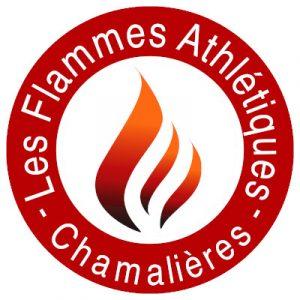 """logo de l'association """"Les Flammes athlétiques - Chamalières"""""""